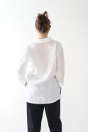 Chemise mixte, lin blanc