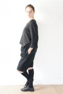 Short mixte, jean noir