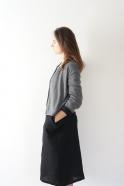 Uniform cardigan, light grey knit