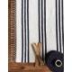 Beja rug, black and white stripes