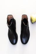 Bernie boots, soft black leather
