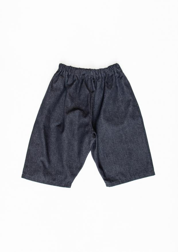 Short mixte, jean bleu