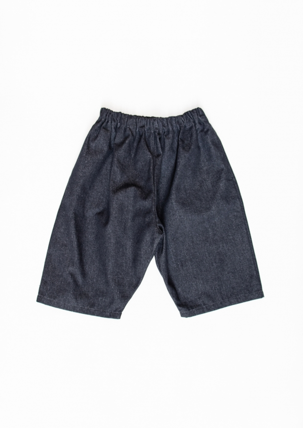 Unisex short, blue denim