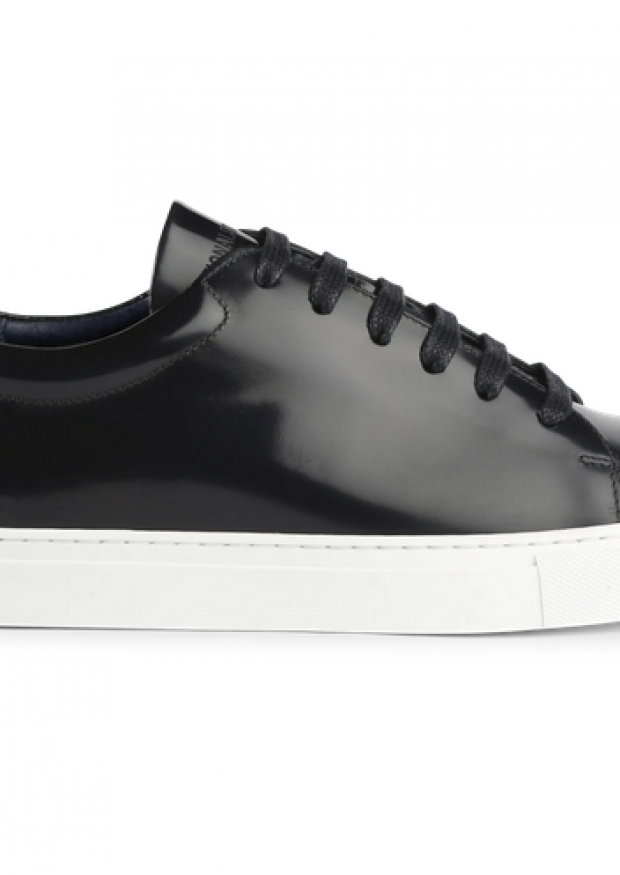 Sneakers for men, black patent leather