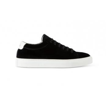 Sneakers, black velvet