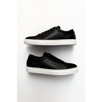 Sneakers for men, black nubuck