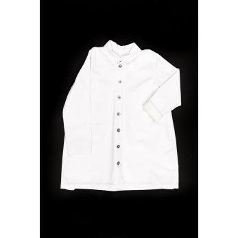 Coat, white denim