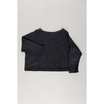 Pull hiver 19, jersey épais gris sombre