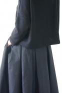 Pull hiver 19, jersey épais noir