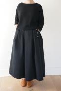 Winter 19 sweater, black heavy jersey