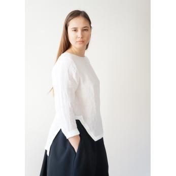 Open top, white linen