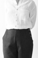 Pantalon Femme, jean noir