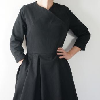 Robe porte-feuille, jean noir