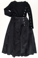 """Trompe l'oeil"" dress, black denim"