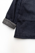 Veste évasée, jean recyclé bleu