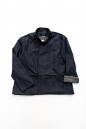 Flared jacket, blue recycled denim