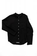 Man shirt, black linen