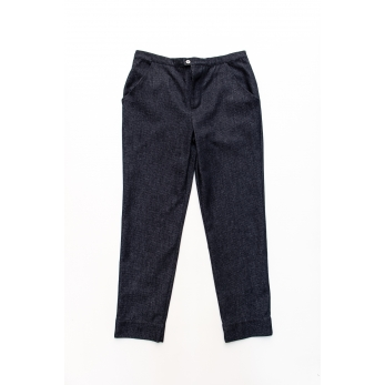 Man trousers, blue recycled denim