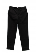 Man trousers, black denim