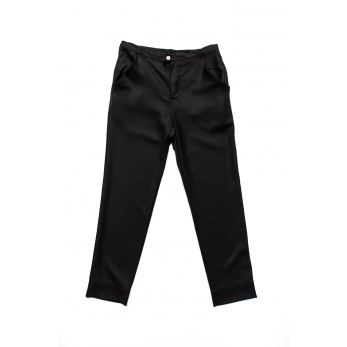 Man trousers, black flannel
