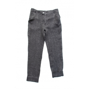 Man trousers, grey heavy linen