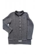 Chemise mixte, lin épais gris