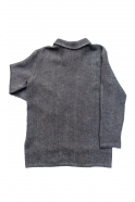 Unisex shirt, grey heavy linen