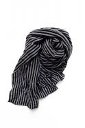 Scarf, dark stripes linen