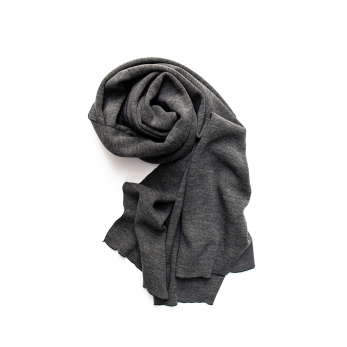 scarf, light grey heavy jersey