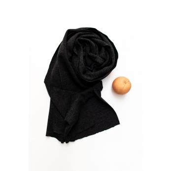scarf, dark grey heavy jersey