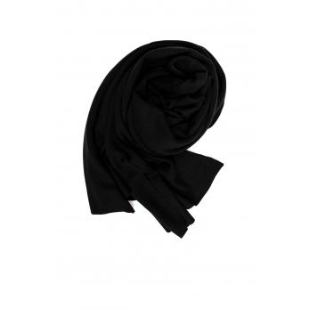 Echarpe, jersey épais noir