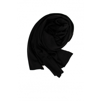 scarf, black heavy jersey