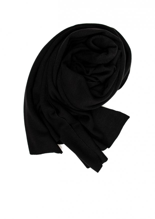 scarf, black heavy jersey