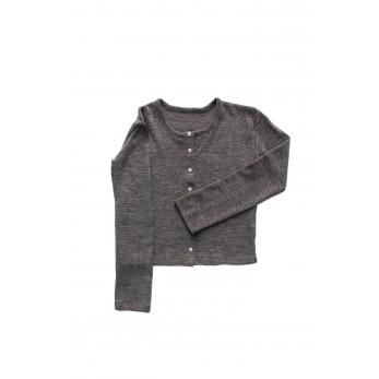 Cardigan, light grey heavy jersey