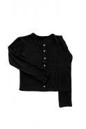Cardigan, black heavy jersey