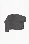 Short cardigan, light grey knit