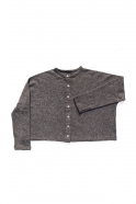 Short cardigan, grey heavy knit