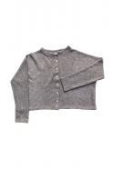 Short cardigan, light grey heavy jersey