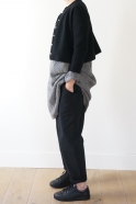 Short cardigan, black heavy jersey