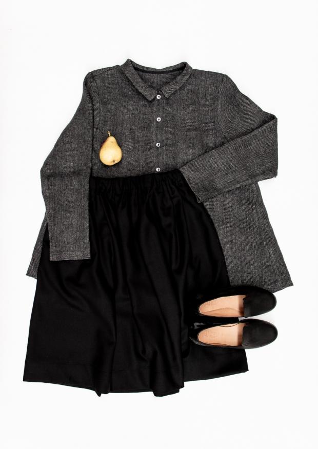 Skirt, black flannel