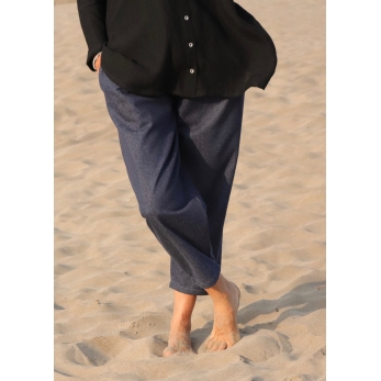 Pantalon classique, jean bleu