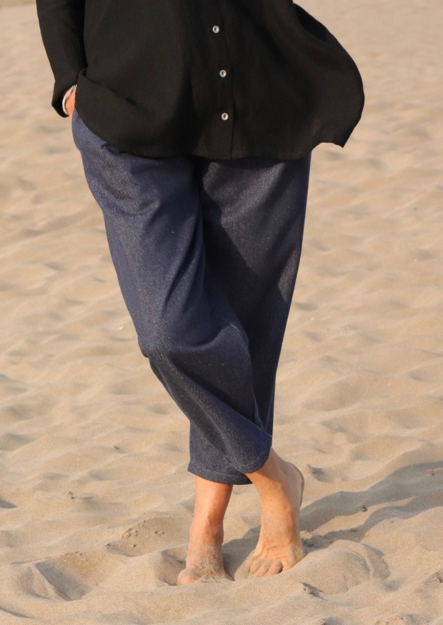 Classic trousers, blue denim