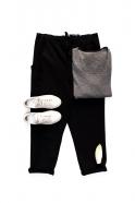 Pockets trousers, black denim