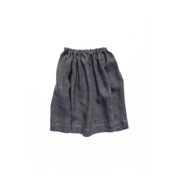 Skirt, grey heavy linen
