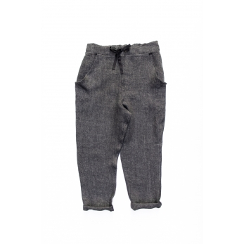Pockets trousers, grey heavy linen