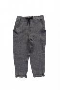 Pantalon à poches, lin épais gris