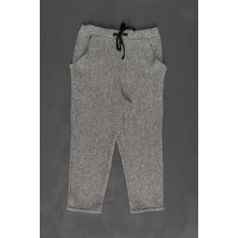 Pantalon à poches, drap chevron