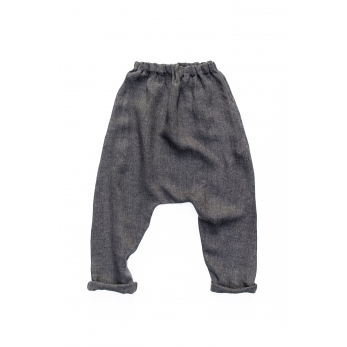 Saroual trousers, grey heavy linen