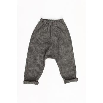 Pantalon sarouel, drap chevron