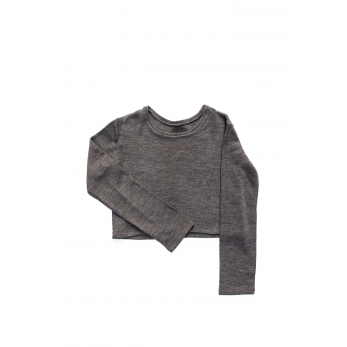 Short sweater, light grey heavy sweater